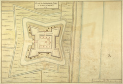 Plan of Sandham Fort in the Isle of Wight, 1725
